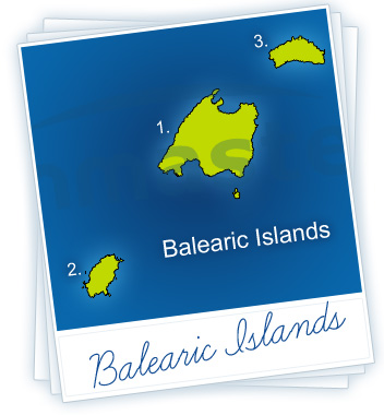 Balearic Islands Holidays Map