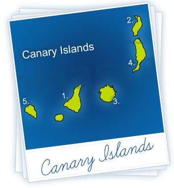 Canary Islands Holidays Map