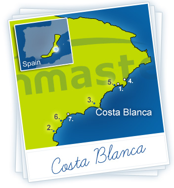 Costa Blanca Holidays Map