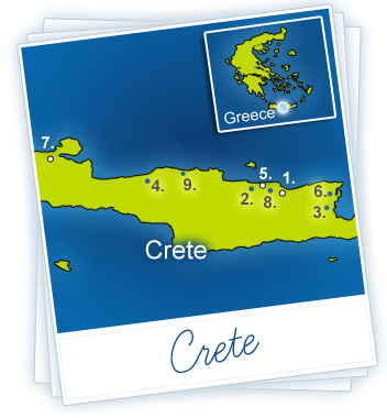 Crete Holidays Map