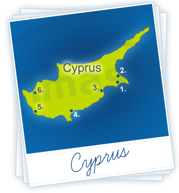 Cyprus Holidays Map