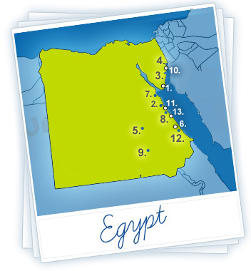 Egypt Holidays Map