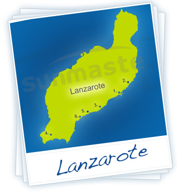 Lanzarote Holidays Map