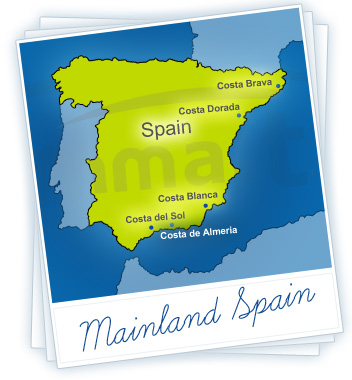 Mainland Spain Holidays Map