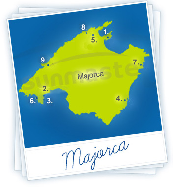Majorca Holidays Map