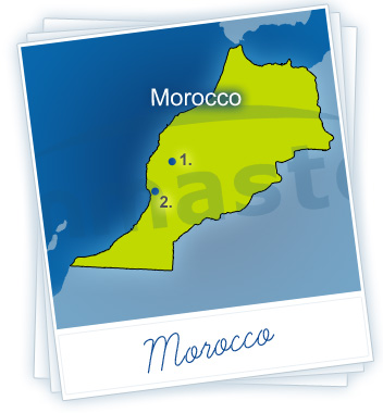 Morocco Holidays Map