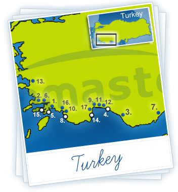 Turkey Holidays Map